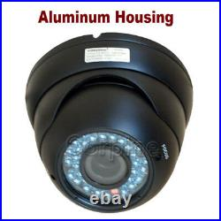 2x Dome Security Camera CCD 36 IR LEDs Day Night Outdoor 4-9mm Lens with Power wg7