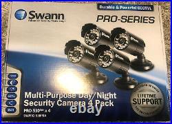 4 Pack New Swann Multi-Purpose Day/Night Security Camera SWPRO-530cam (Black)