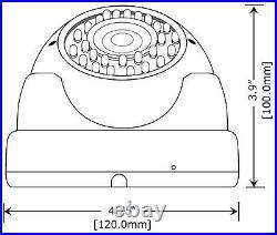 4x 1800TVL 2.8-12mm Vari-focal 36IR Day Night Vison WidView Security CCTV Camera