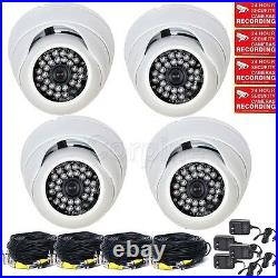 4x Security Cameras with SONY EFFIO CCD 700TVL Outdoor IR Day Night Wide Angle mgc