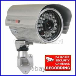 4x Wide Angle CCD Security Camera Outdoor 28 IR LEDs Day Night w Cable Power A98