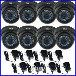 8 Pack Weatherproof Outdoor Security Camera 1/3 Pixim DPS WDR IR Day Night BO4