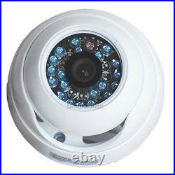 8 Wide Angle CCD IR Day Night Dome Security Camera Outdoor with Power Supply CCW
