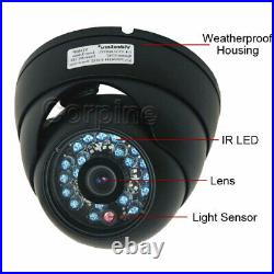 8x Day Night Vision Dome Security Camera 3.6mm Outdoor Infrared Power Supply B4X