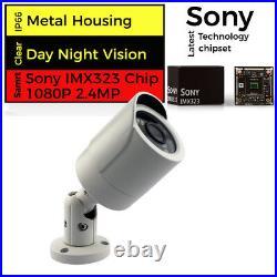 CCTV Full HD DVR P2P HDMI Email 1080P 2.4MP IR Night Day Camera Home System Kit