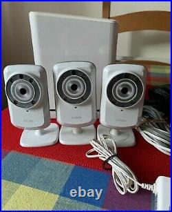 Dlink Dcs-932l X3 Wireless Day/night Cameras + Sharecentre Dns-320lw Nas Storage
