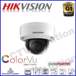 HIKVISION ColorVu Darkfighter Color Camera Day and Night 4MP IP Network Dome