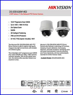 HIKVISION IP CAMERA 2MP PTZ DOME 1080p DAY/NIGHT IP66 DS-2DE4220W-AE3