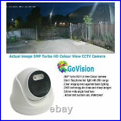 Hikvision CCTV System HD 5MP Colour At Night & Day Camera DVR Home Security Kit
