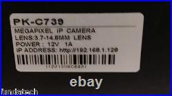 PK-C739 H. 264 2MP CCTV Camera 3.7-14.8mm Vari-focal Lens / Day & Night
