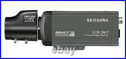 Samsung Scb-2000p 1/3 High Resolution Day/night Camera 600tvl 12/24v Cctv