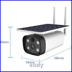 Solar Power 4G LTE Wi-Fi IP 2MP Day Night Camera 2 Way Audio PIR Heat Detection