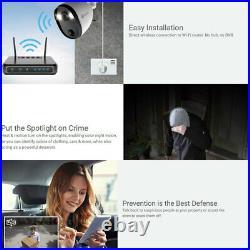 Swann 4PK Spotlight Outdoor/Indoor 1080p WiFi Security Camera Day/Night CCTV WHT