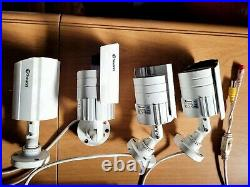 ++Swann CCTV Night/Day Security Cameras x 4 9 Channel DVR 100 Metres of Cable++