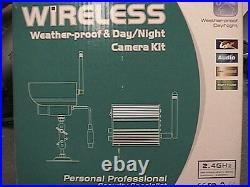 Wireless Infrared Day Night Color CCD Camera 2.4ghz 4ch